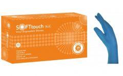 Soft Touch Γάντια Βινυλίου - Μπλε χωρίς πούδρα
