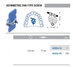 Assymetric Fan-Type Screws S/Steel 15mm Pack of 100 pcs