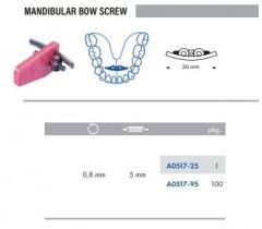 Mandibular Bow Screw S/Steel 20mm Pack of 100 pcs