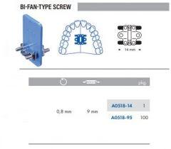 Bi-Fan Type Screw S/Steel 14mm Pack of 100 pcs