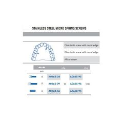 One-Tooth Screws Rounded S/Steel 6mm Pack of 10 pcs