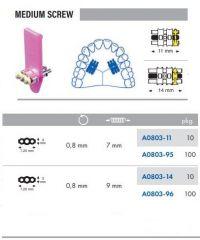 Medium Screws S/Steel 11mm Pack of 100 pcs