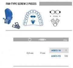 Fan-Type Screw 2 Pieces S/Steel 14mm Pack of 100 pcs