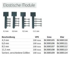 Tuff Link Elastomeric Modules, clear 11,5 mm